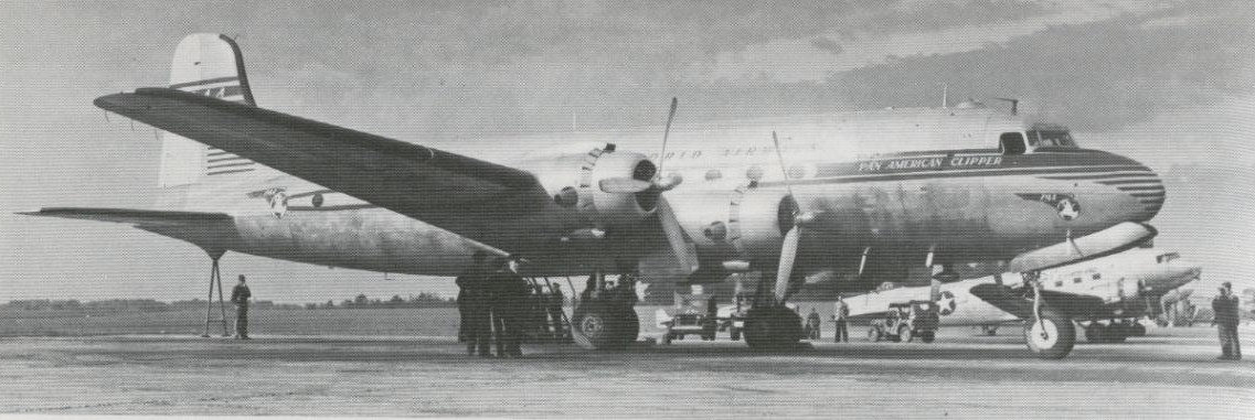 In 1946 Pan Am utilized this aircraft on proving flights to Europe before re-establishing regular service.