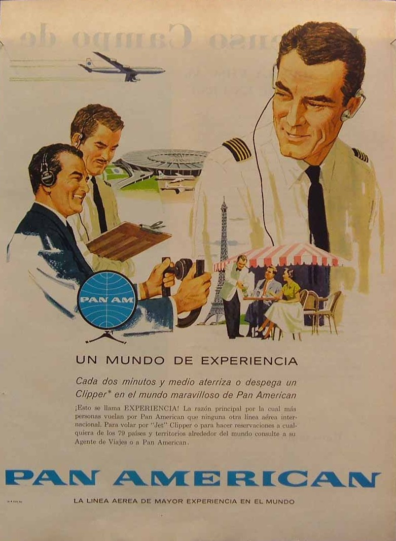 1960, A Spanish language ad.