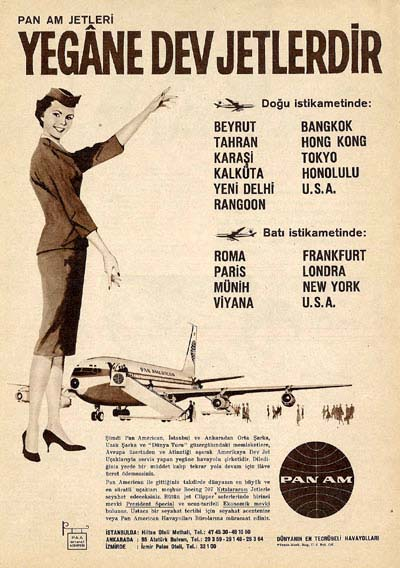 1960 A Pan Am Turkish language ad.