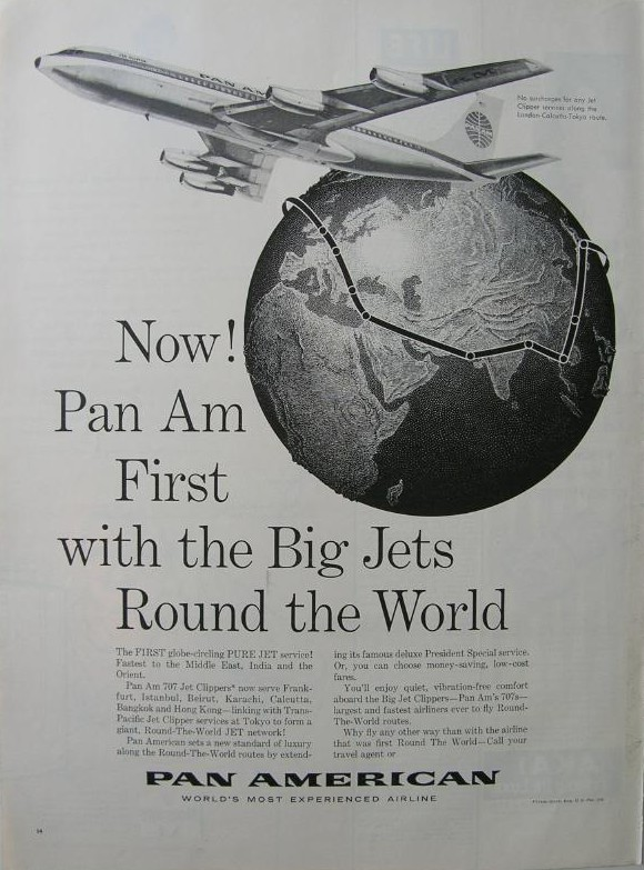 1960s Round the World via jets.