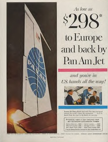 1960s Low fares on Pan Am.