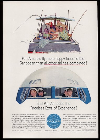 1960s Jet vacations via Pan Am.