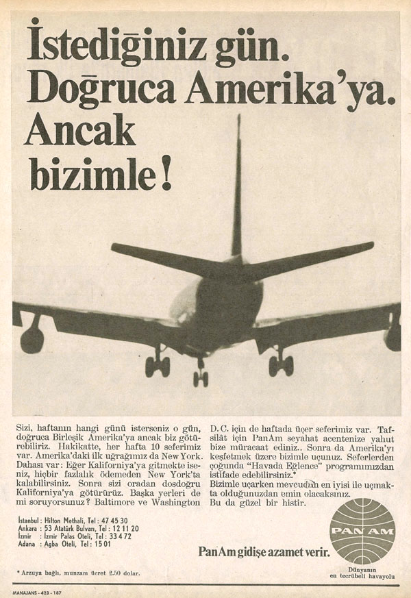1968 A Turkish Language ad.