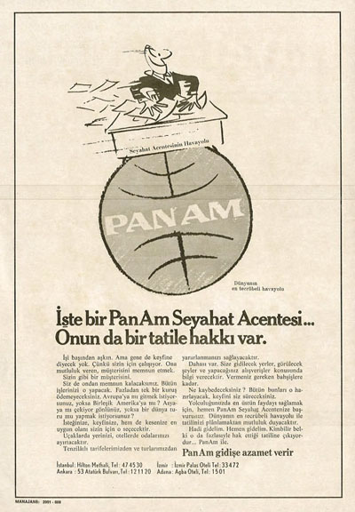 1969 A Pan Am Turkish language ad.