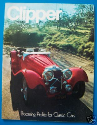 1973 April Clipper in-flight Magazine with a cover story on classic cars.