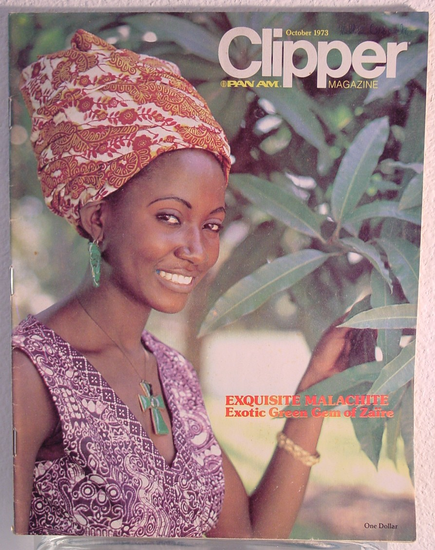 1973 October Clipper in-flight Magazine with a cover story on Africa.