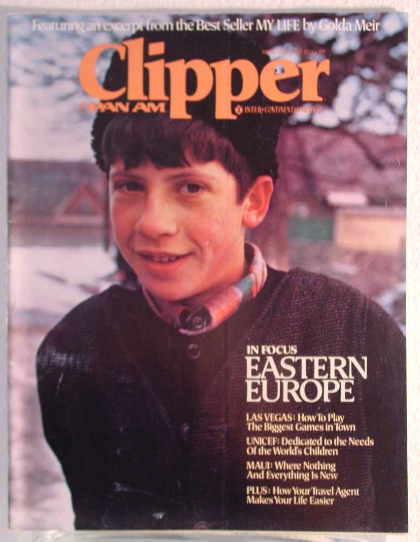 1976 April Clipper in-flight Magazine with a cover sotry on Eastern Europe.
