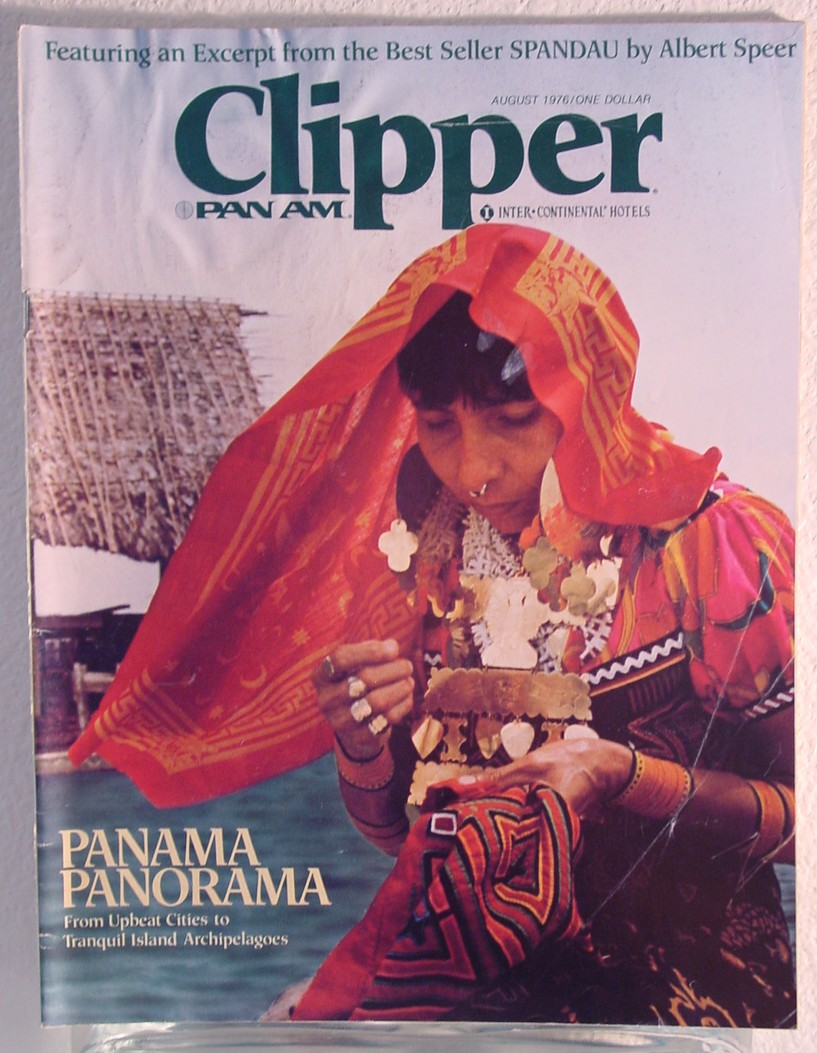 1976 August, Clipper in-flight Magazine with a cover story on Panama.