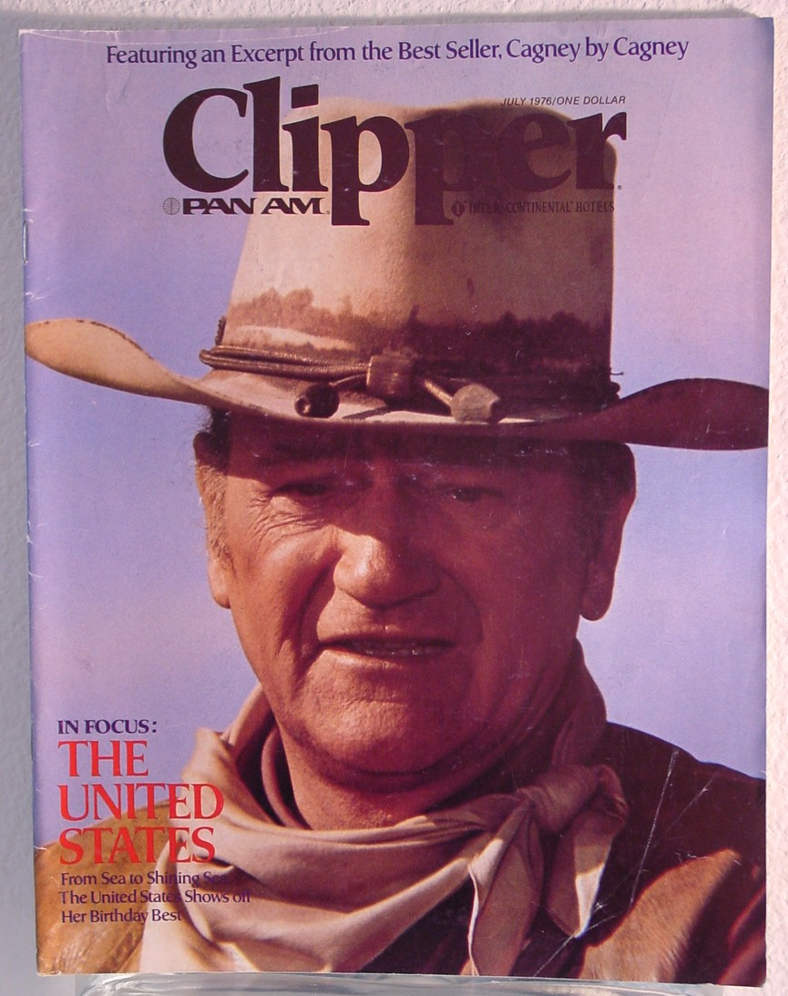 1976 July Clipper in-flight Magazine with a cover story on America.