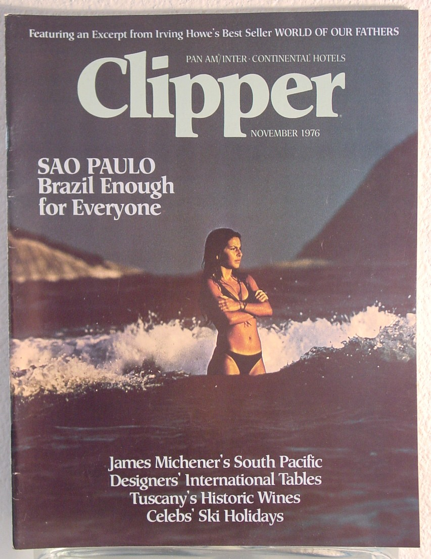 1976 November, Clipper in-flight Magazine with a cover story on Sao Paulo, Brazil.