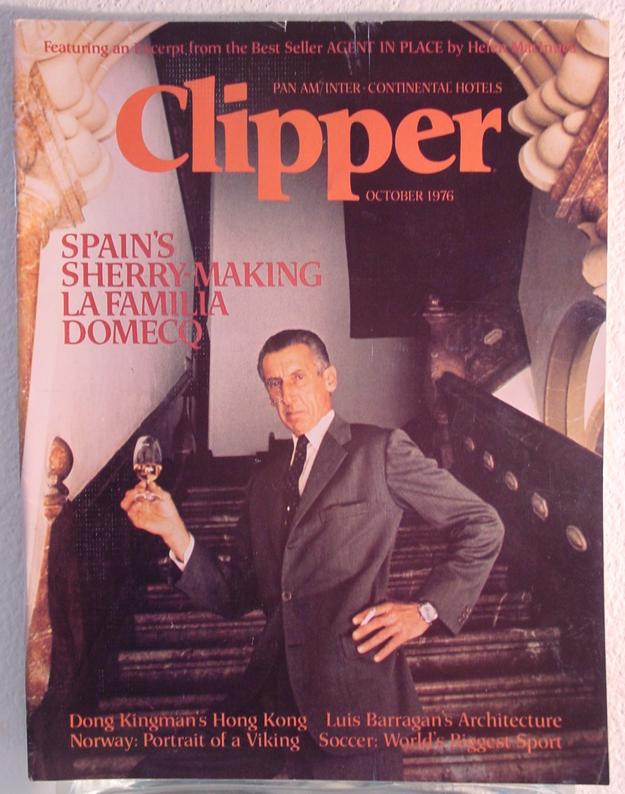 1976 October, Clipper in-flight Magazine with a cover story on Spanish Sherry.