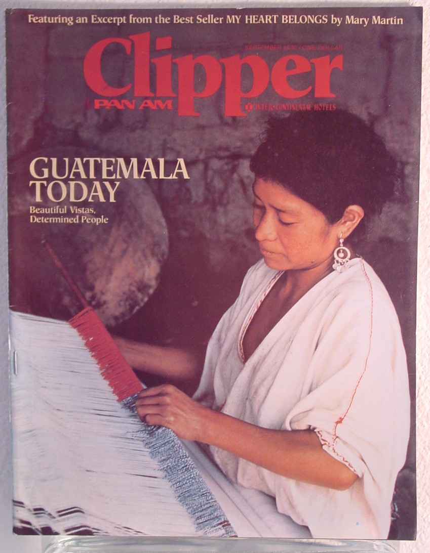 1976 September, Clipper in-flight Magazine with a cover story on Guatamala.