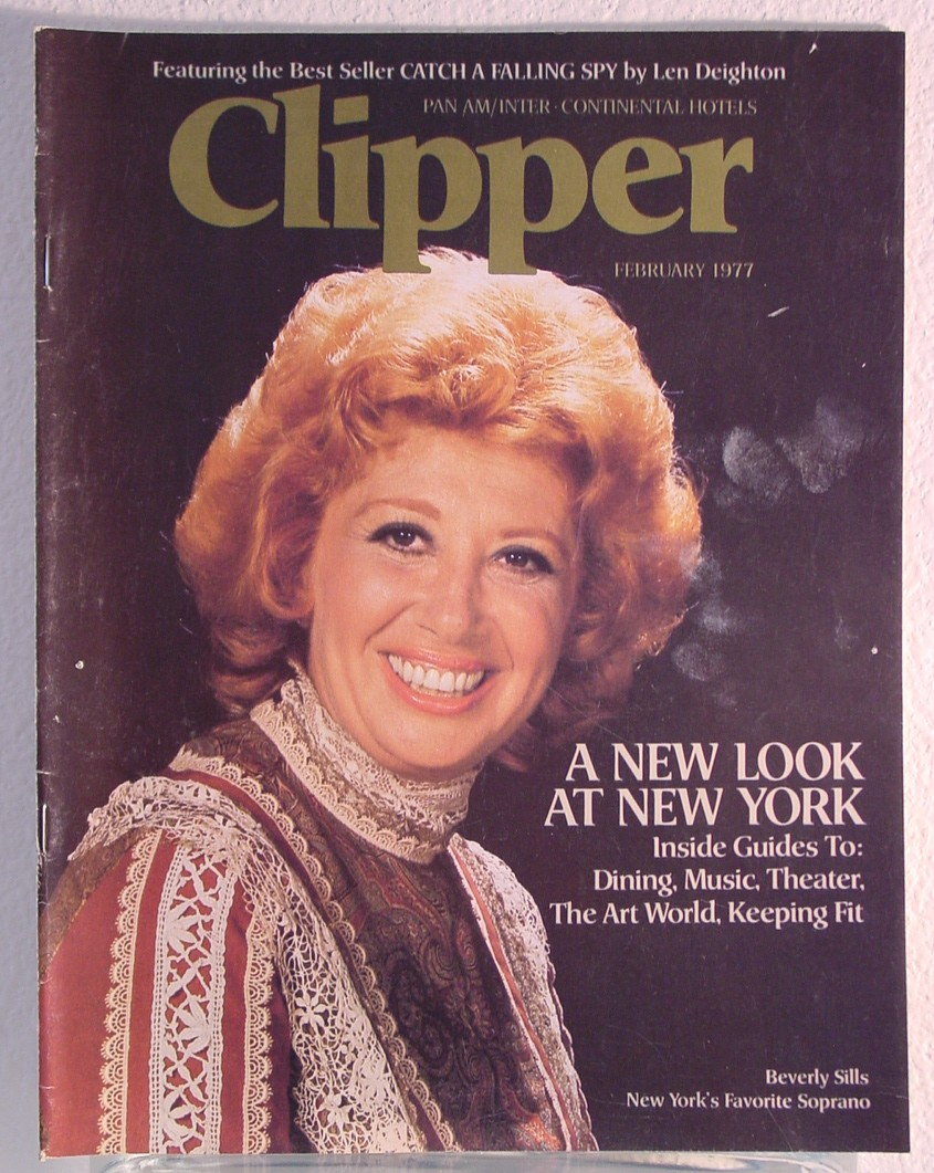 1977 February, Clipper in-flight Magazine with a cover story on New York.