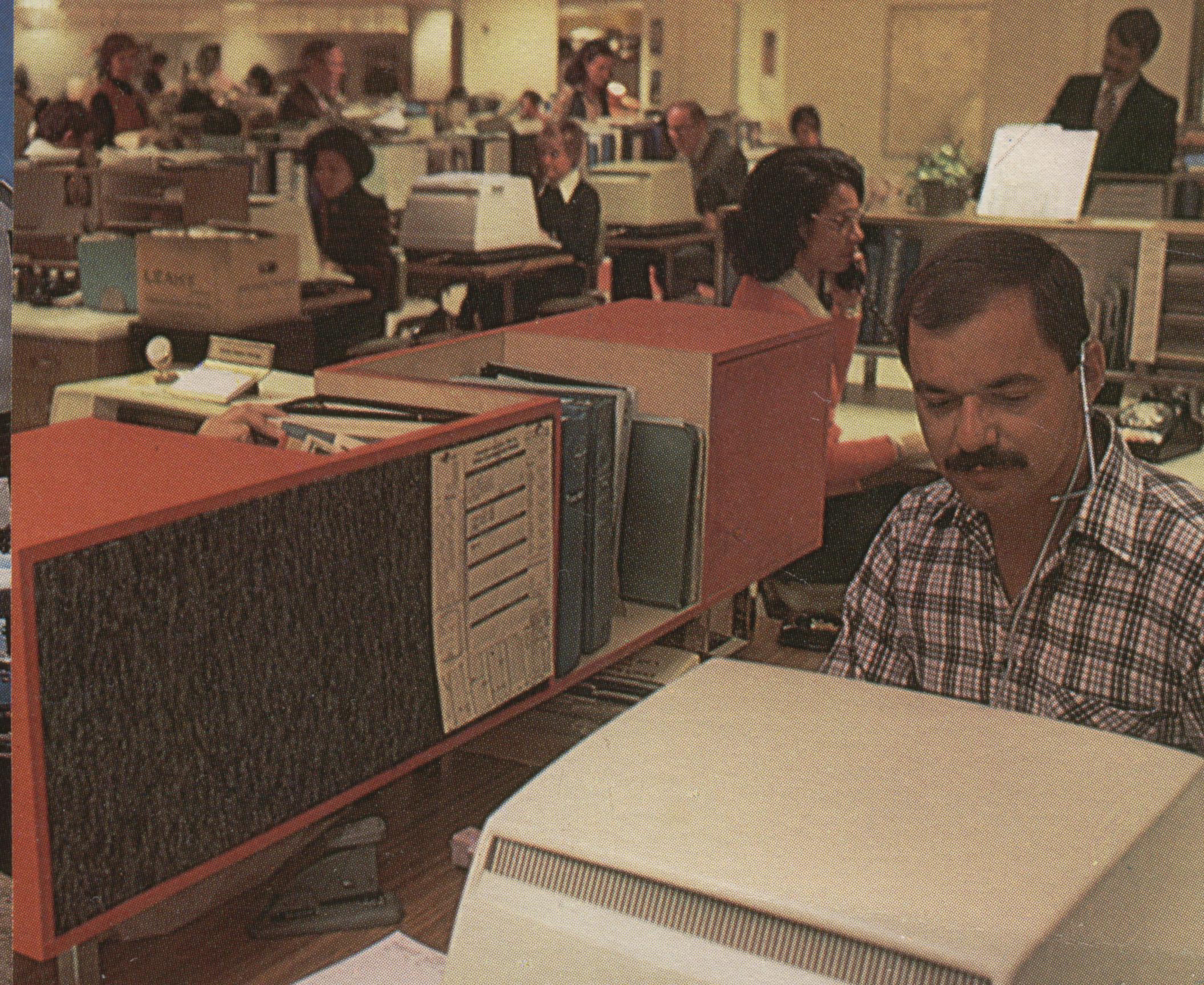 1977 The New York Reservations Office on the Fourth Floor of the Pan Am Building.