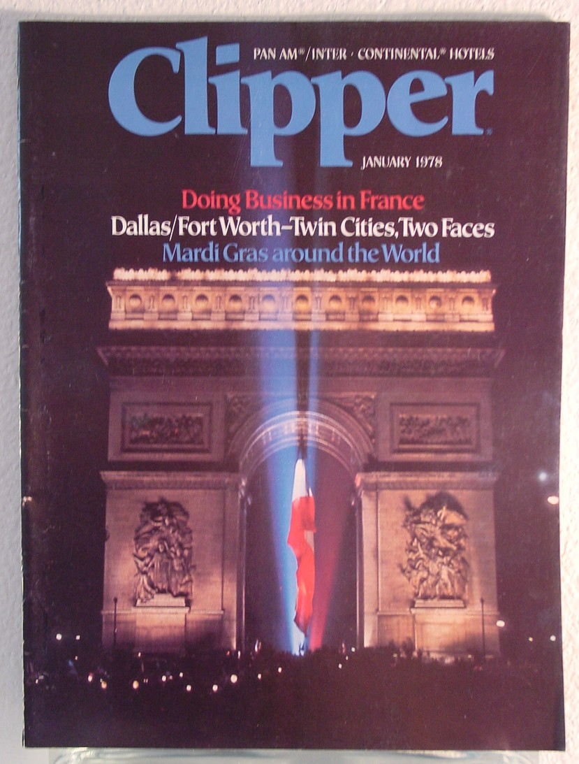 1978 January, Clipper in-flight Magazine with a cover story on doing business in France.