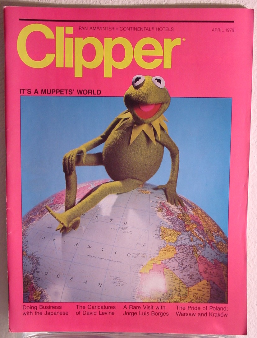 1979 April, Clipper in-flight Magazine with a cover story on The Muppets.