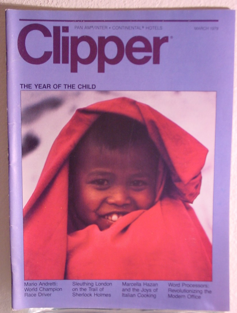 1979 March, Clipper in-flight Magazine with a cover story on children.