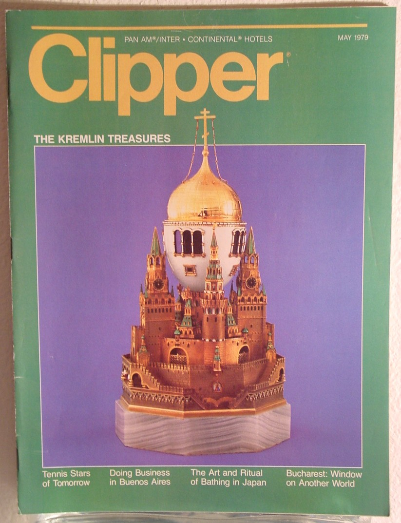 1979 May Clipper in-flight Magazine with a cover story on Kremlin art.