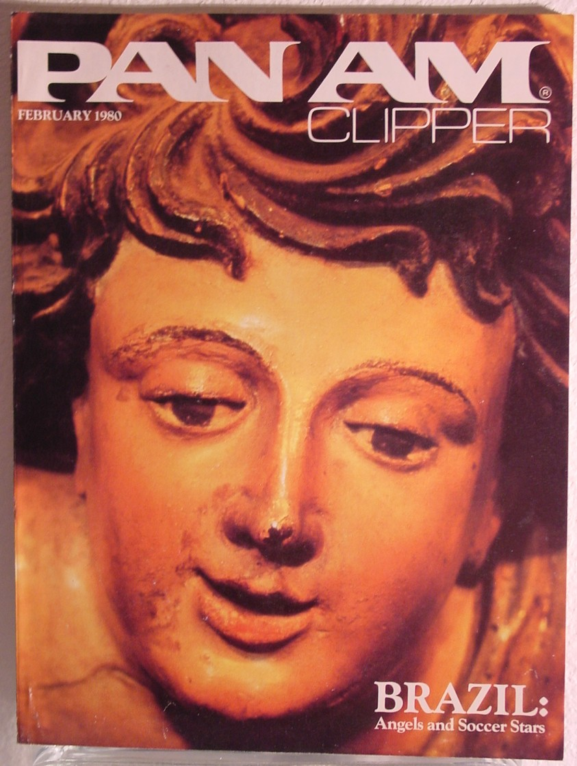 1980 February, Clipper in-flight Magazine with a cover story on Brazil.