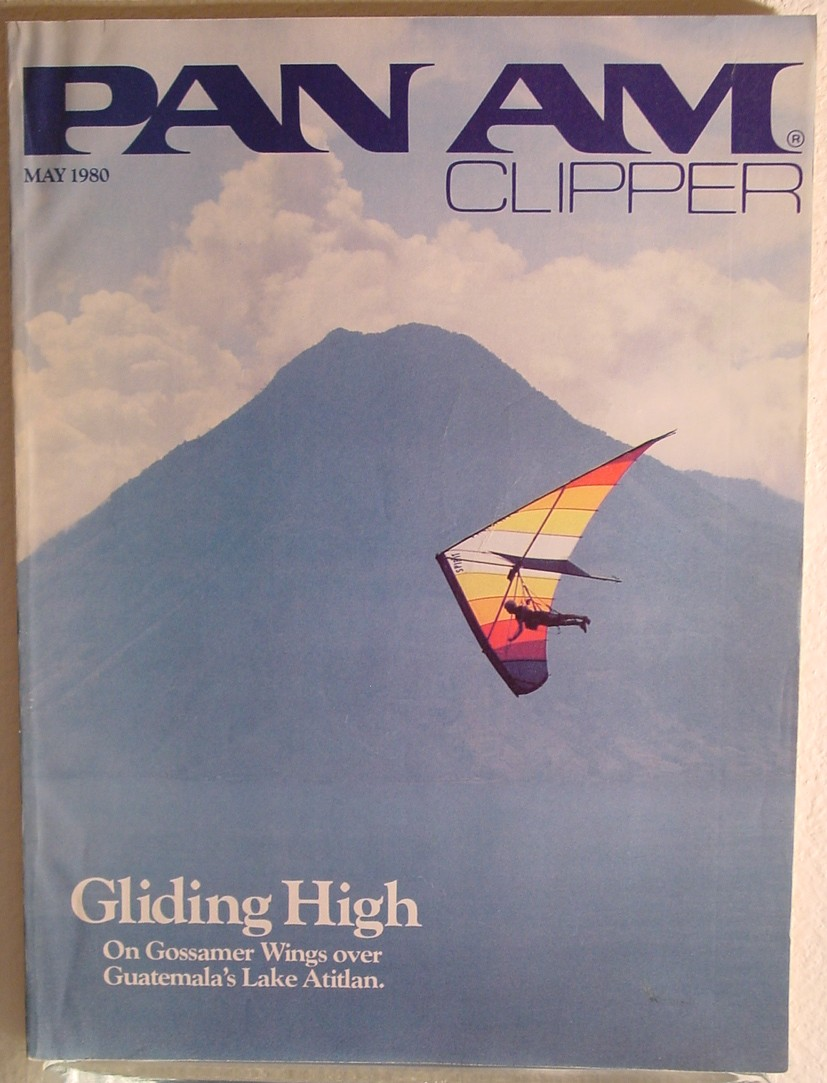 1980 May, Clipper in-flight Magazine with a cover story on hang gliding.