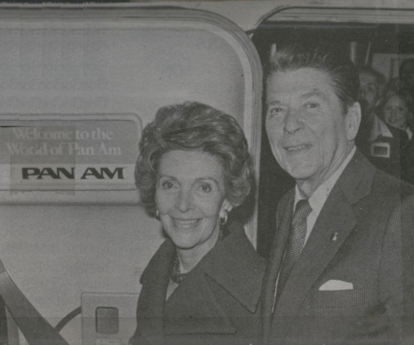 1980, During his campaign for President Ronald & Nancy Reagan occasionally flew on Pan Am.