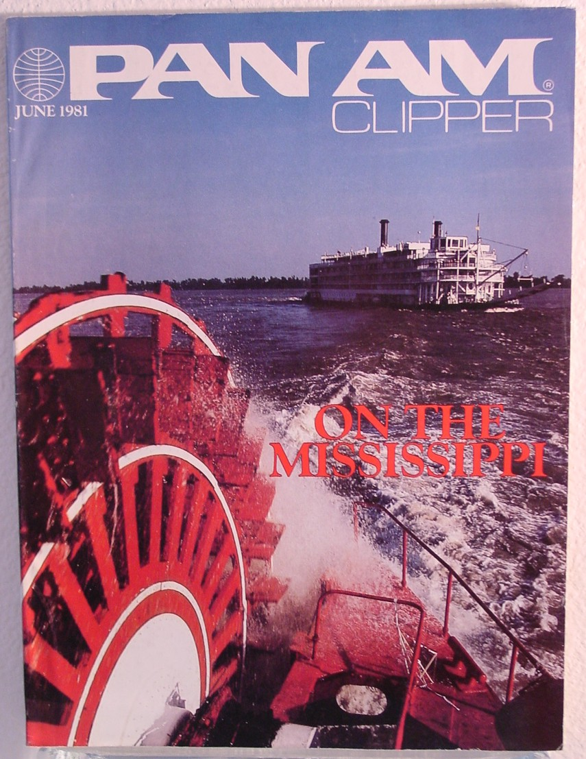 1981 June, Clipper in-flight Magazine with a cover story on the Mississippi River.