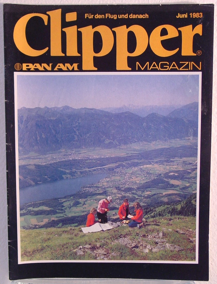 1981 June German language version of Clipper in-flight Magazine.