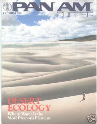 1981 October, Clipper in-flight Magazine with a cover story on desert ecology.