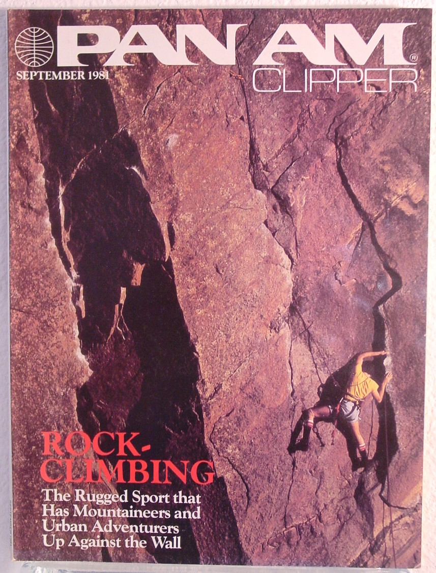 1981 September Clipper in-flight Magazine with a cover story on rock climbing.
