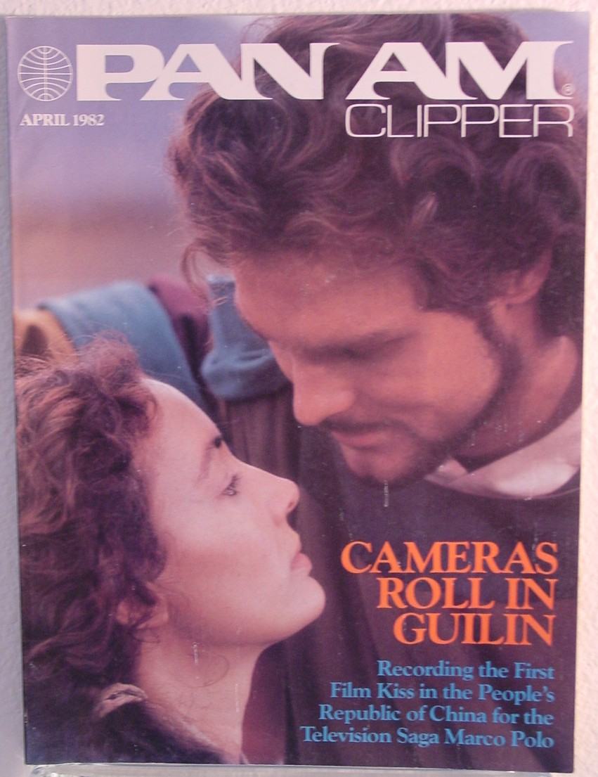 1982 April, Clipper in-flight Magazine with a cover story of filming a movie in China.