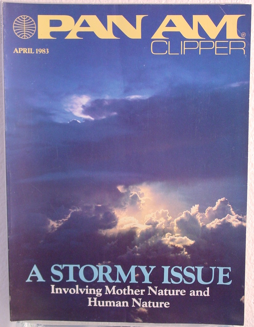 1983 April, Clipper in-flight Magazine with a cover story on Mother Nature.
