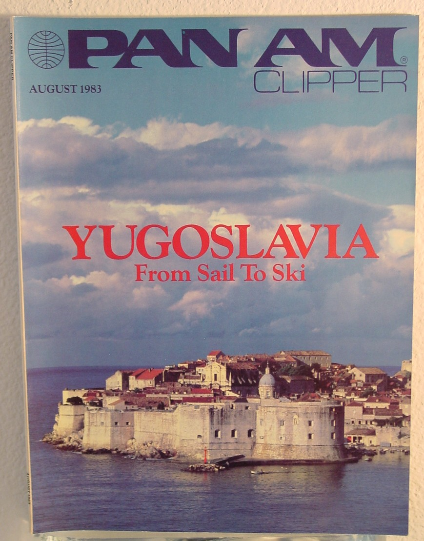 1983 August,  Clipper in-flight Magazine with a cover story on Yugoslavia.