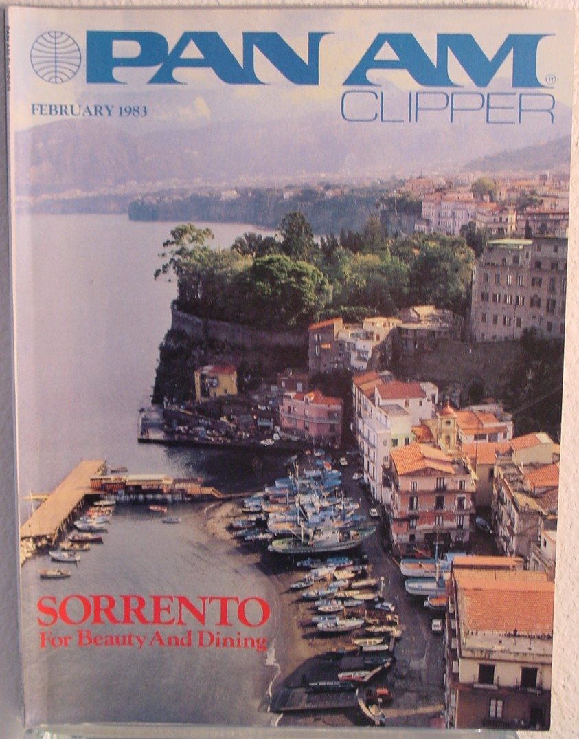 1983 February, Clipper in-flight Magazine with a cover story on Sorrento, Italy.