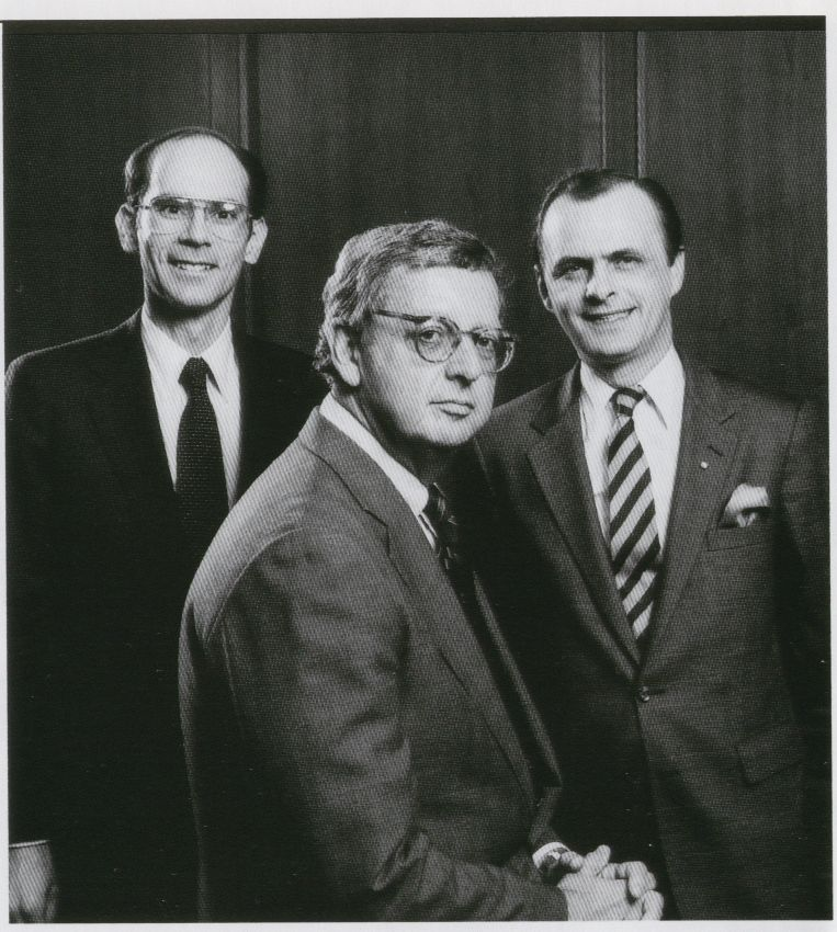 1983 Pan Am Executives (left to right) Jerry Gitner, Ed Acker and Marty Shugrue.