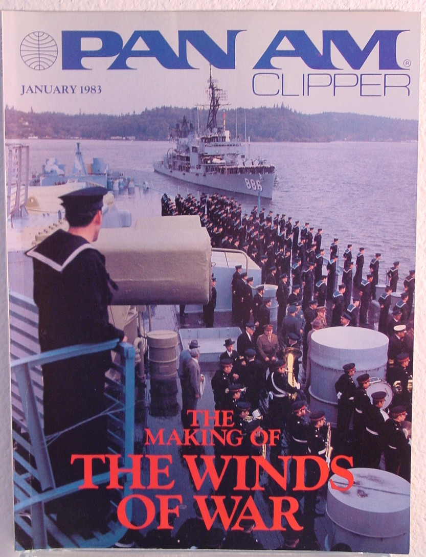 1983 January, Clipper in-flight Magazine with a cover story on the film