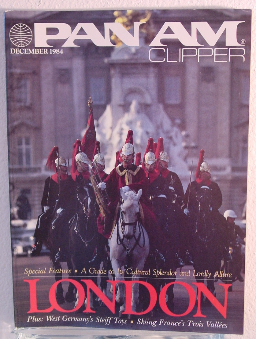 1984 December, Clipper in-flight Magazine with a cover story on London.