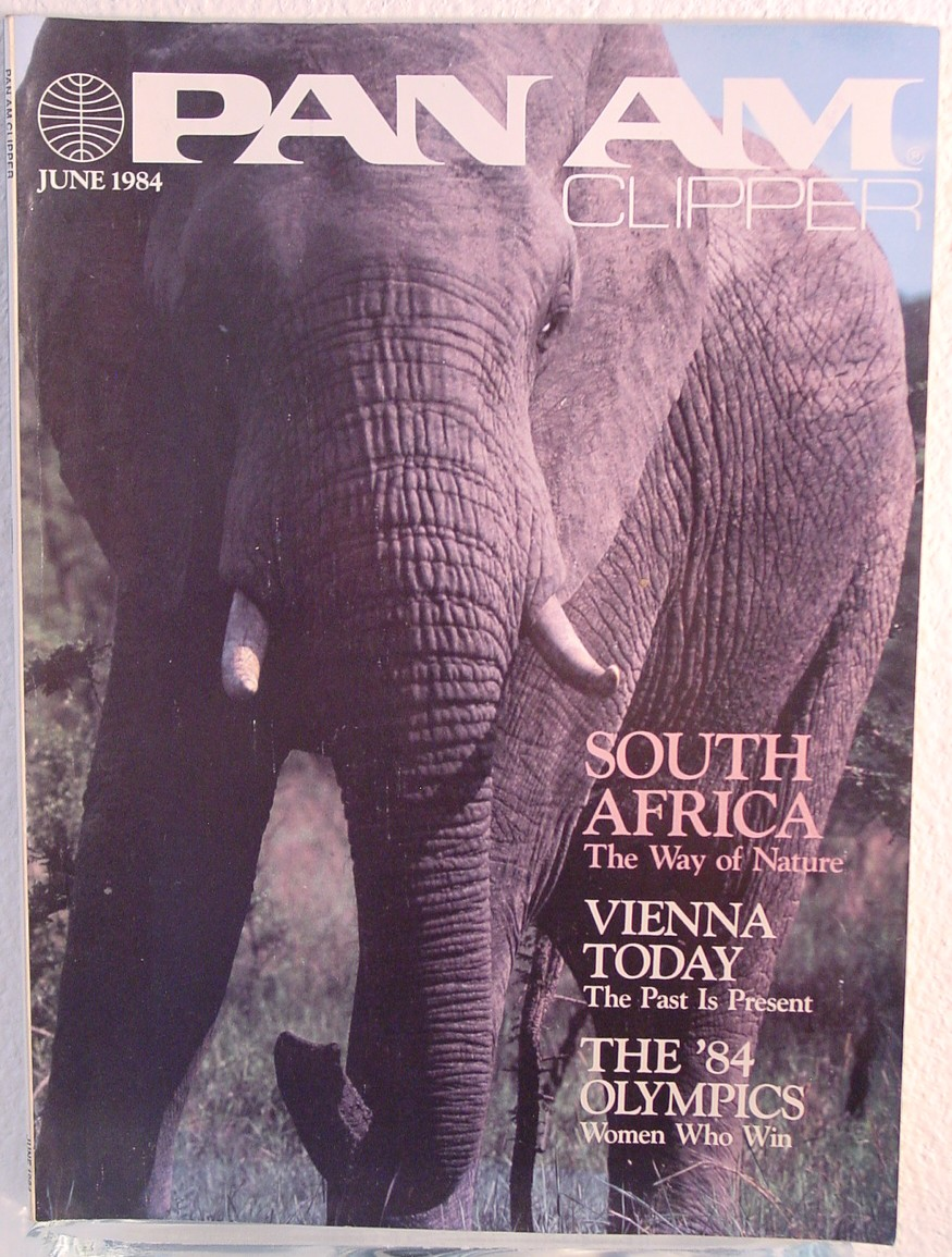 1984 June, Clipper in-flight Magazine with a cover story on South Africa.