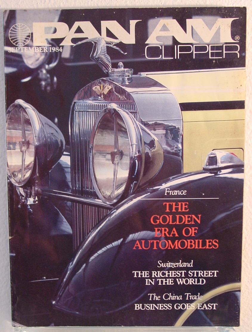 1984 September, Clipper in-flight Magazine with a cover story on antique cars.