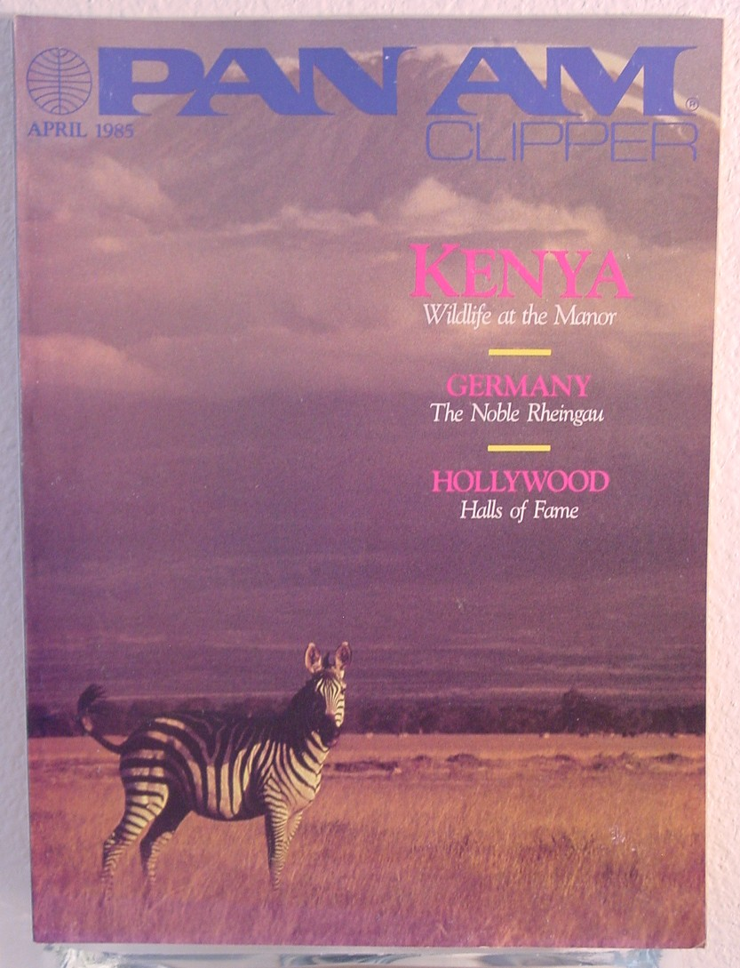 1985 April, Clipper in-flight Magazine with a cover story on Kenya.