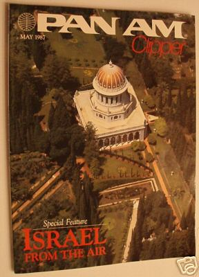 1987 May, Clipper in-flight Magazine with a cover story on Israel.