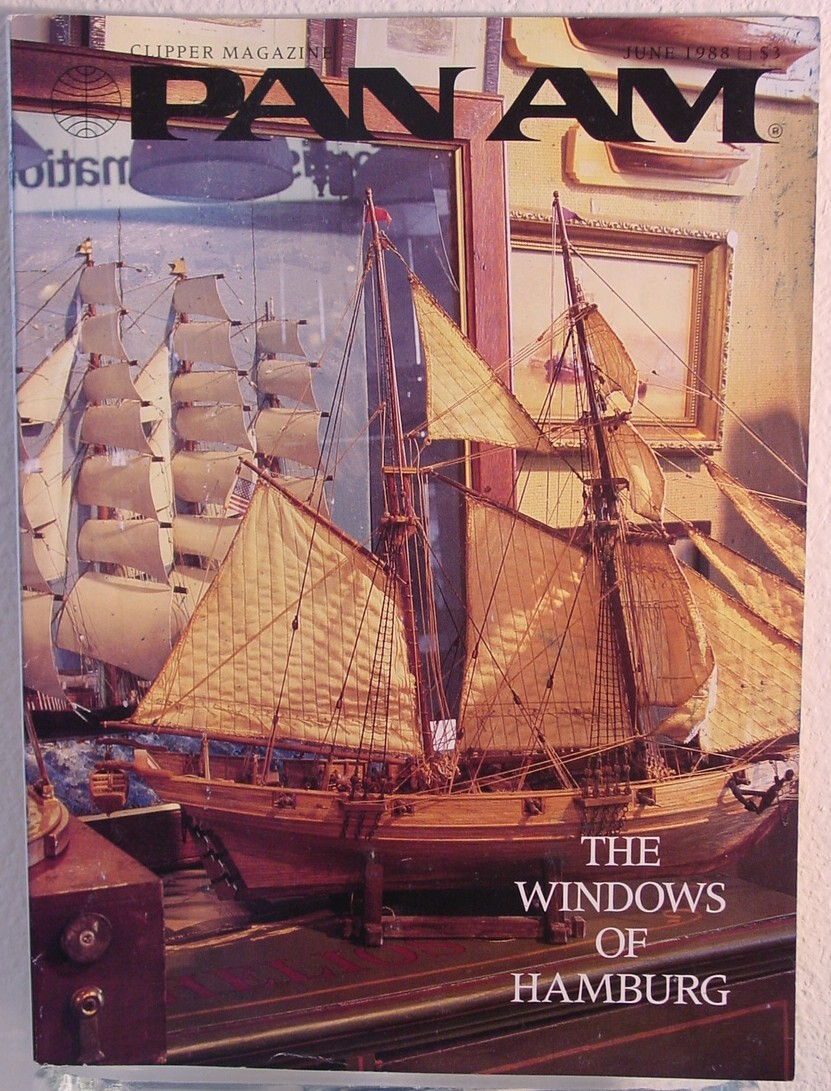 1988 June, Clipper in-flight Magazine with a cover story on Hamburg, Germany.