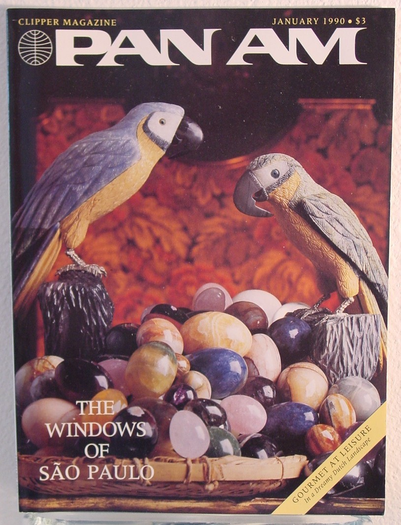 1990 January, Clipper in-flight Magaznie with a cover story on Sao Paulo, Brazil.