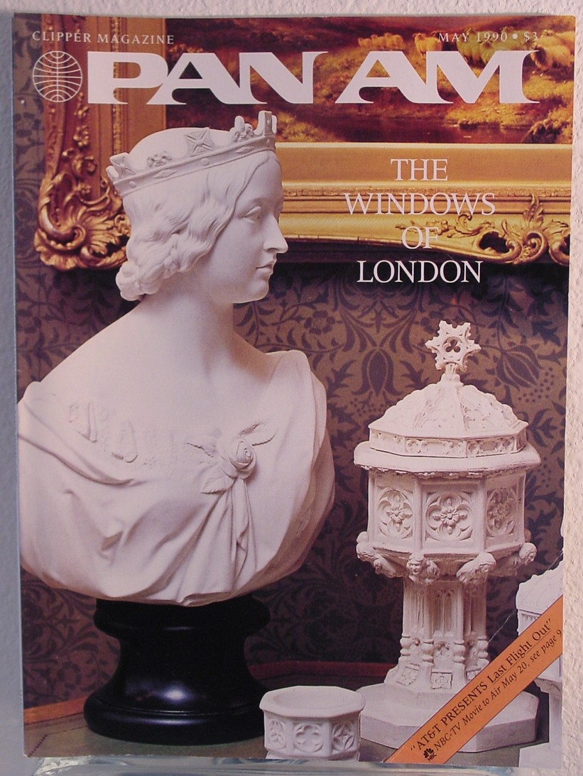 1990 May, Clipper in-flight Magazine with a cover story on London.
