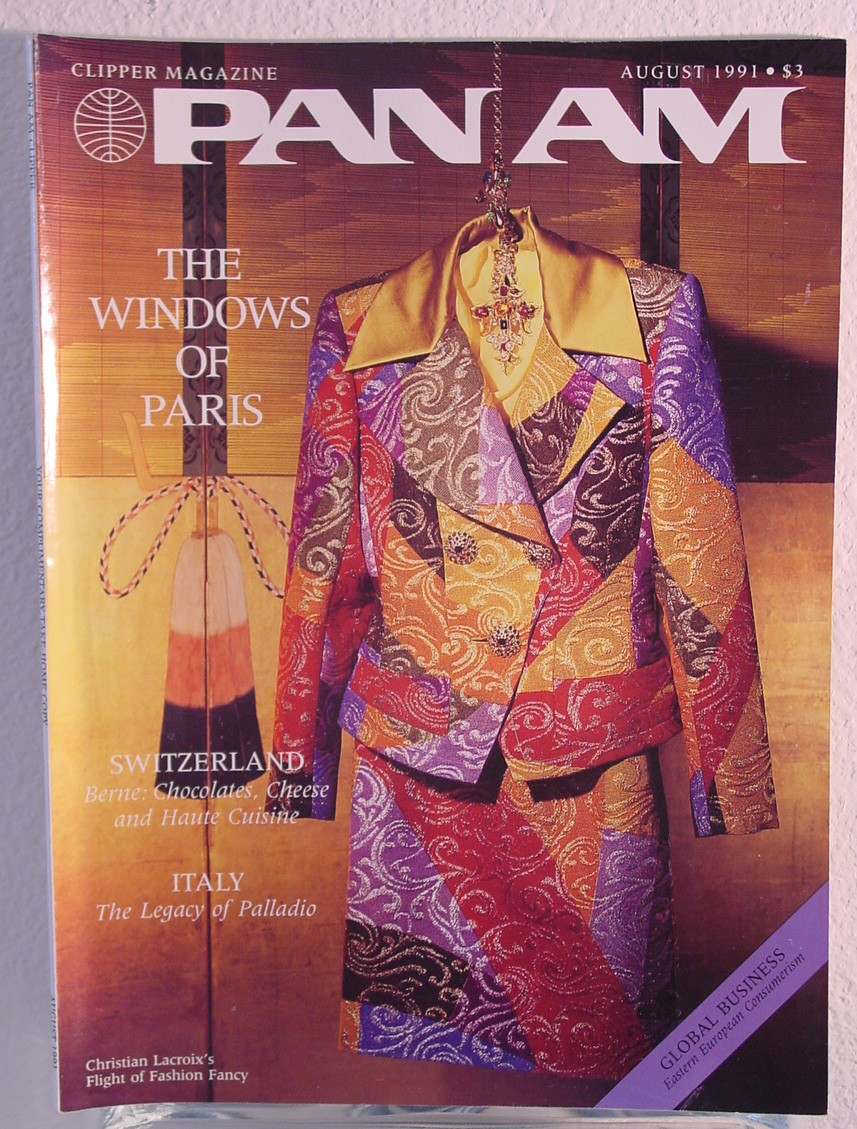 1991 August, Clipper in-flight Magazine with a cover story on Paris, France.