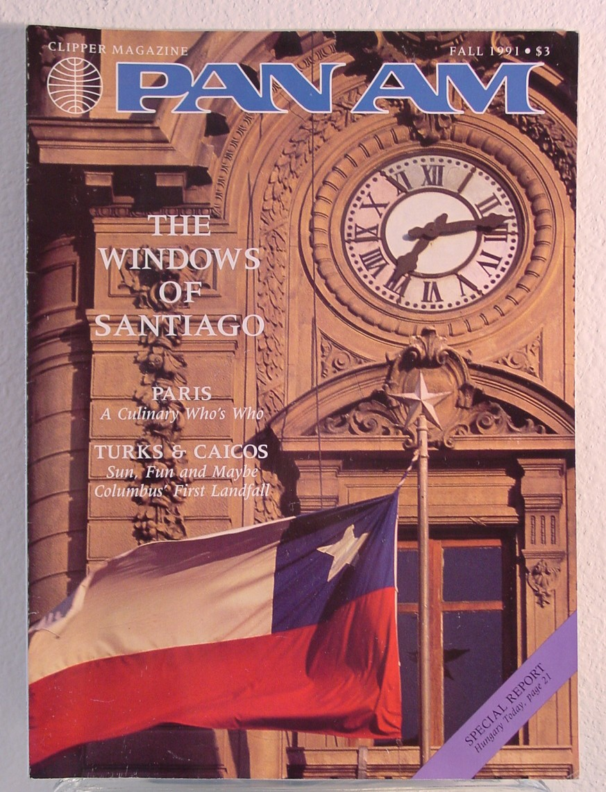 1991 Fall Clipper in-flight Magazine.  This issue is a repeat of the October 1991 issue with a different cover.  This is also the last issue of Clipper produced as Pan Am shut down on December 4th 1991.