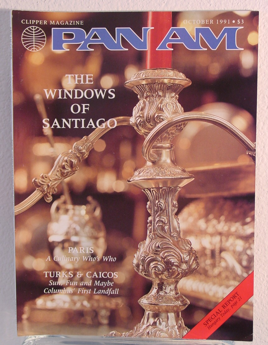 1991 October, Clipper in-flight Magazine with a cover story on Santiago, Chile.