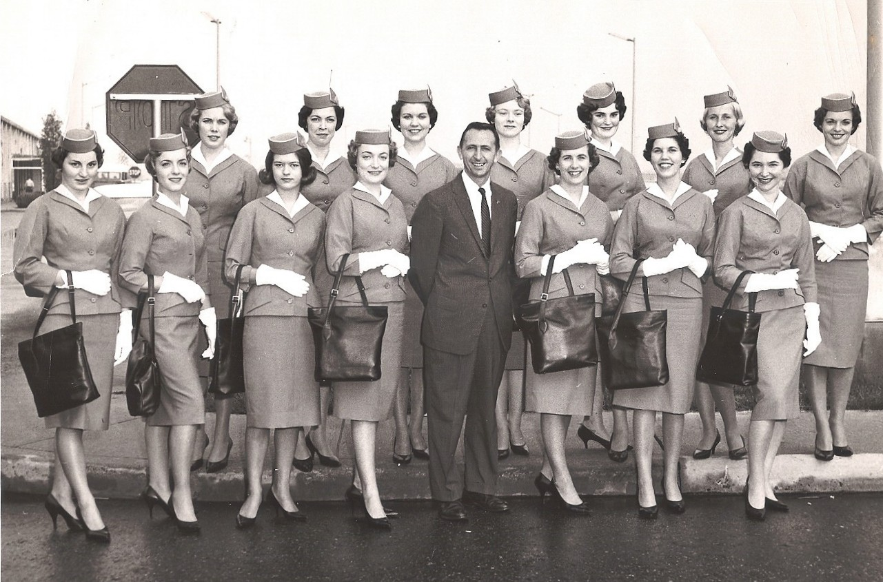 1963 Stewardess training graduation photo for the class of Andree Jan wife of Ray LeDour.