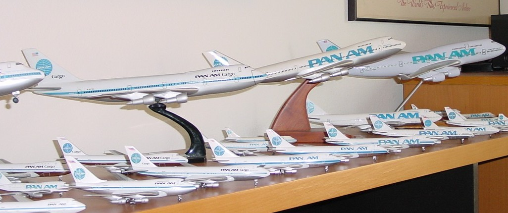Boeing 747s from all different liveries, sizes and  manufacturers.