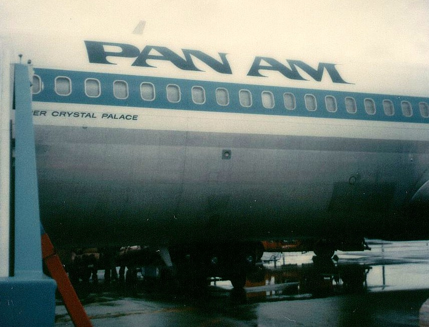 Pan Am 707 tail number N427PA Clipper Crystal Palace on the ramp at Washington Dulles Airport, January 2, 1979.