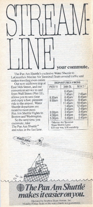 1988 Oct 30 Water Shuttle Schedule Ad
